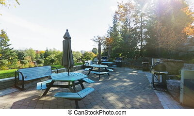Park backyard area. Bbq area - Park backyard area close to...