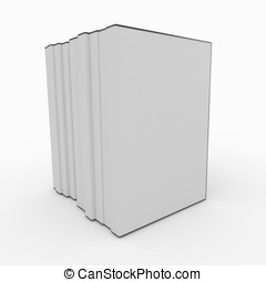 3d blank dvd box isolated on white