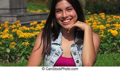 Happy Hispanic Person