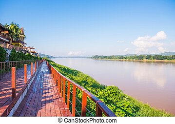 Mekong river between Thailand and Laos