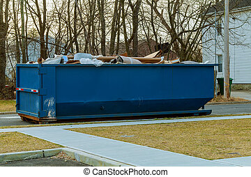 Full Bill over flowing flowing Dumpsters with garbage - Full...
