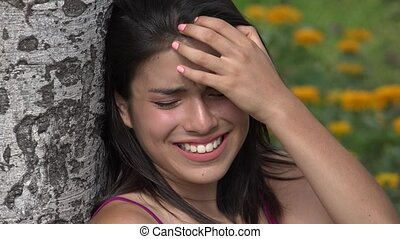 Teen Girl Crying