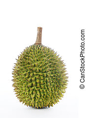 Durian over white background - Durian, the king of fruits of...