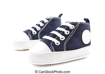 Baby blue - Blue baby sport shoes isolated over white
