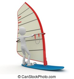 3d man surfing