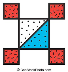 Abstract Patch - Vector sticker and patch in 90s 80s styles...