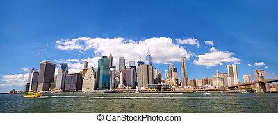 Lower Manhattan skyline panorama - New York City Lower...
