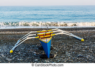 Boat in Philippines - Traditional Philippino boat in the...