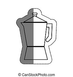 kettle kitchen utensil icon vector illustration design