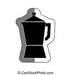 kettle kitchen utensil icon vector illustration design