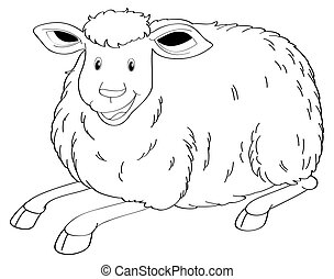 Drafting animal for cute sheep