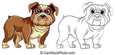 Animal outline for dog illustration