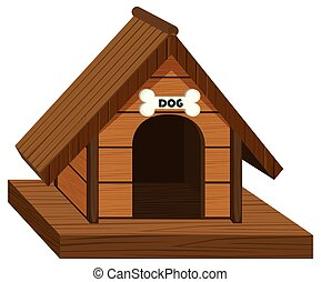 Doghouse made of wood illustration