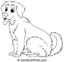 Animal outline for golden retriever illustration