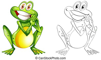 Animal outline for happy frog