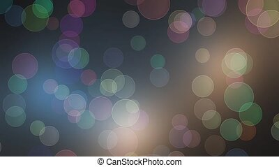 Moving Colorful Abstract Lights bokeh background