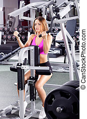 active woman in gym