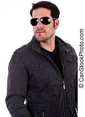 stylish man wearing sunglasses