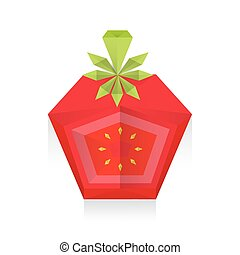 dissect Tomato 3D Origami Icon
