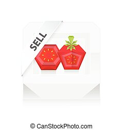 Sell Box dissect Tomato 3D Origami Icon