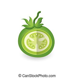 dissect Green Tomato 3D Icon