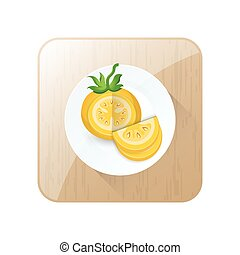dissect Tomato Yellow Color icon and button