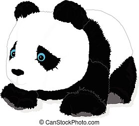 cute panda toy vector