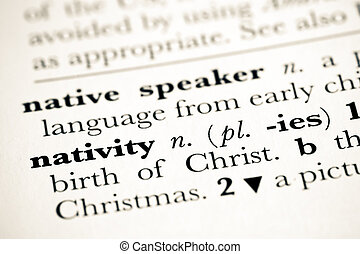 nativity - dictionary definition of the christmas nativity