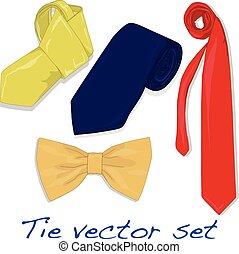 Set of Ties and Bow Tie