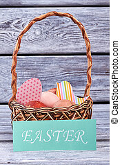 Easter card and basket.
