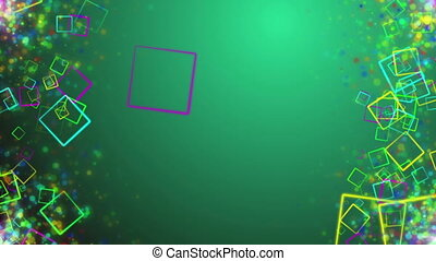 """""""Holiday Animated colorful squares in sides"""" - """"Green..."""
