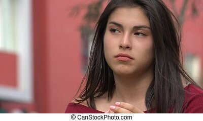 Pretty Teen Hispanic Girl
