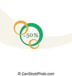 Vector illustration of various discounts for markets and...