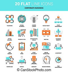 Corporate Business Icons - Vector set of corporate business...