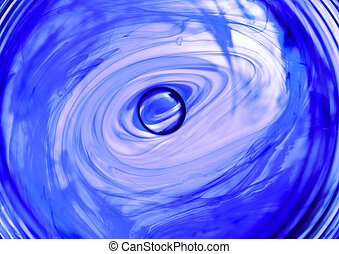 ink in water spiral abstract - moving ink in water spiral...