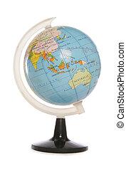 Minature world globe studio cutout