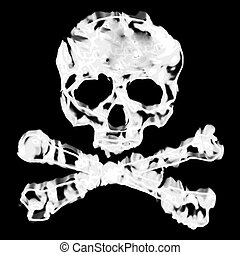 Skull and Cross Bones - Skull and cross bones illustration...