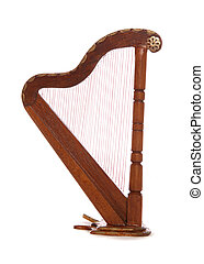 Mainature wooden harp - Minature woodern harp studio cutout