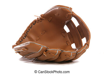 Baseball glove - Leather Baseball glove studio cutout