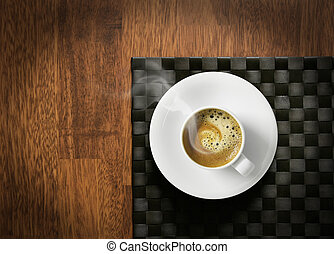 Steaming hot espresso - Steaming hot cup of espresso coffee...