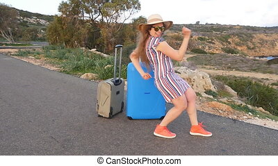 Happy young woman on vacation. Travel concept