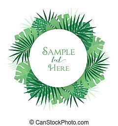 Palm leaf decoration - Vector illustration of palm leaf...
