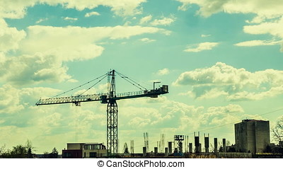 Time Lapse Of Industrial Construction Yard - Beautiful Time...