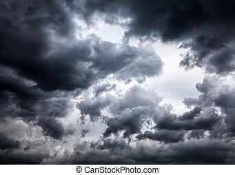 Dramatic Clouds Background - Storm Clouds closeup on the Sky...
