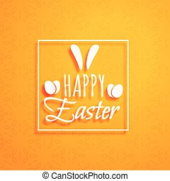 orange background for happy easter holiday