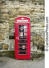 Red telephone box (booths) in the United Kingdom