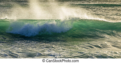waves at the beach at Janubio in Lanzarote