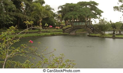 Water Palace of Tirta Gangga. Landmark in Bali Karangasem...