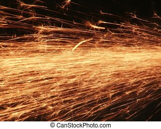 Sparks Fly - Sparks flying out from an angle grinder