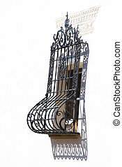 the Swiss mountain village window with railing - the Swiss...